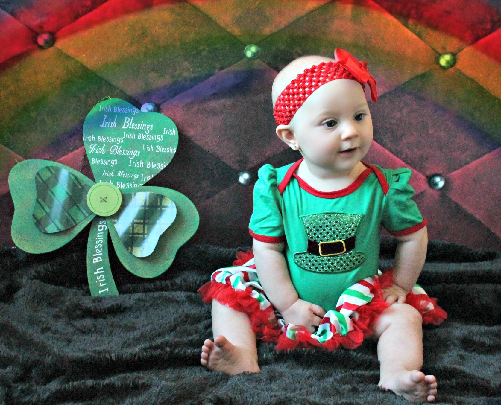 Baby Girl Leprechaun Hat Tutu Dress Onesie with Headband · Royal Roe ... 2a7a008316d