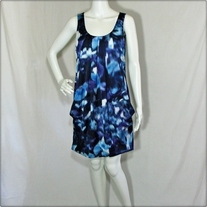 Blue Abstract Bubble Dress