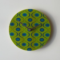 Objectify Green Waves Wall Clock