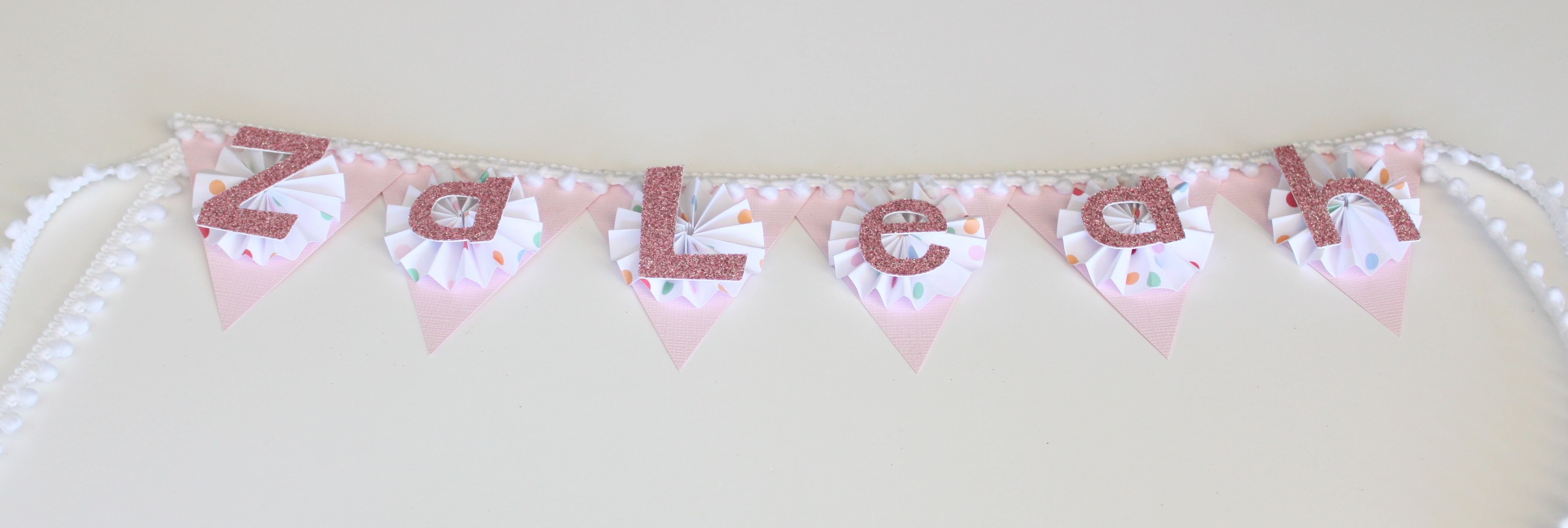 custom birthday high chair name banners · the banner shoppe