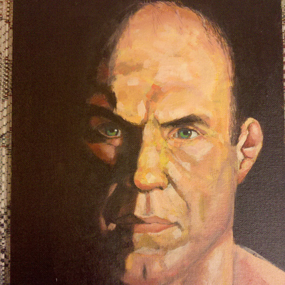 Painting of ufc fighter - randy couture