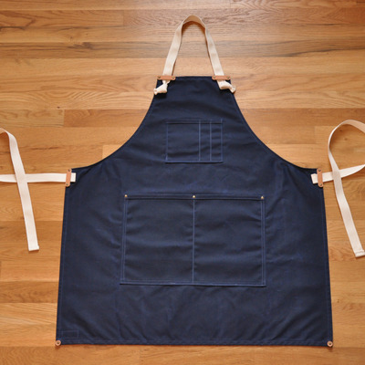 Apron - navy waxed canvas