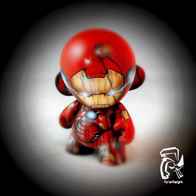 "Iron man battle damaged 4"" munny"