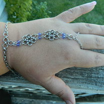 Hand Jewelry- Purple Crystal