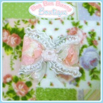 Princess Pink Petals & Lace Bow