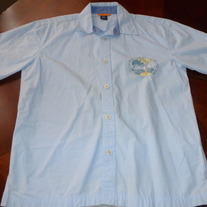 BOYS GAP KIDS BLUE BUTTON SHIRT SIZE XL-12