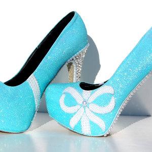 Tiffany blue glitter heels with swarovski crystals and pearls tiffany blue glitter heels with swarovski crystals and pearls thumbnail 2 junglespirit Gallery
