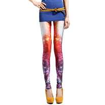 Colorful galaxy printed leggings