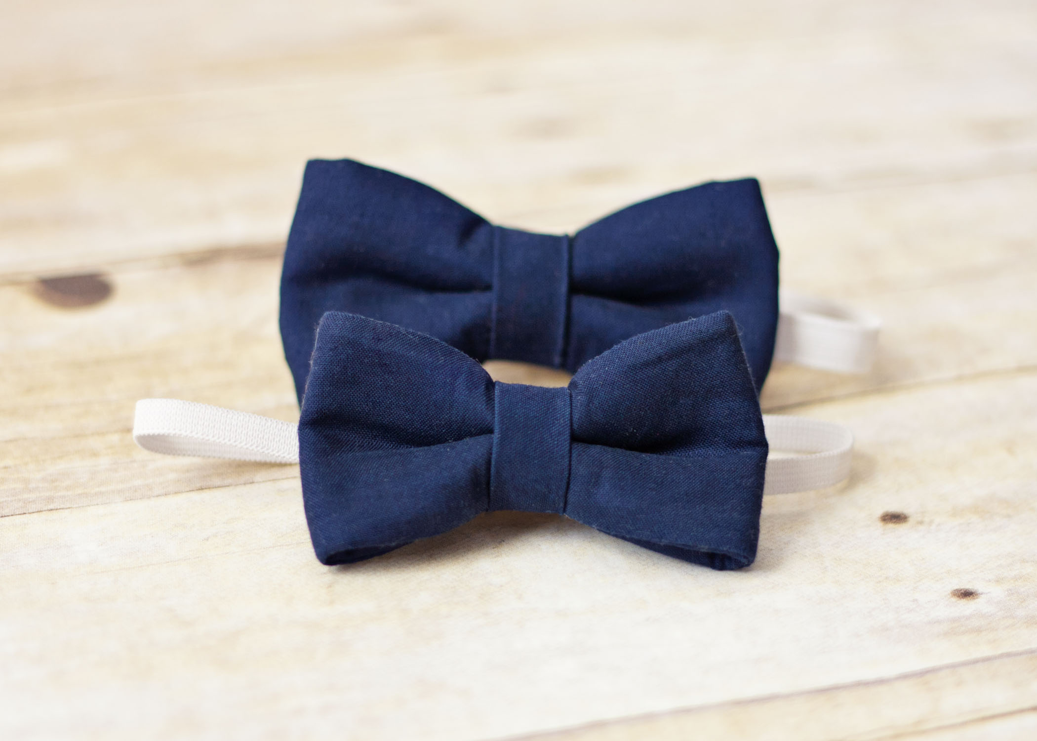 navy blue bow tie with elastic baby toddler boy navy