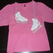 Pink Shirt with Skates-Baby Gap Size 4T