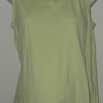 Sleeveless Green/Yellow Top-Baby and Me Size Medium