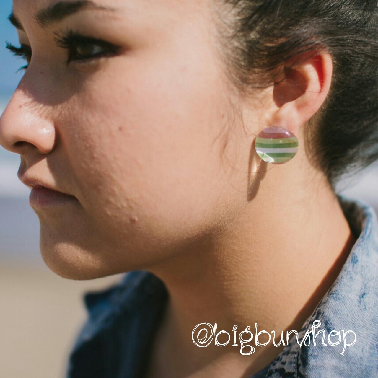 Round sherbet stripe earrings big bun shop online for Sparkles jewelry lakewood nj instagram