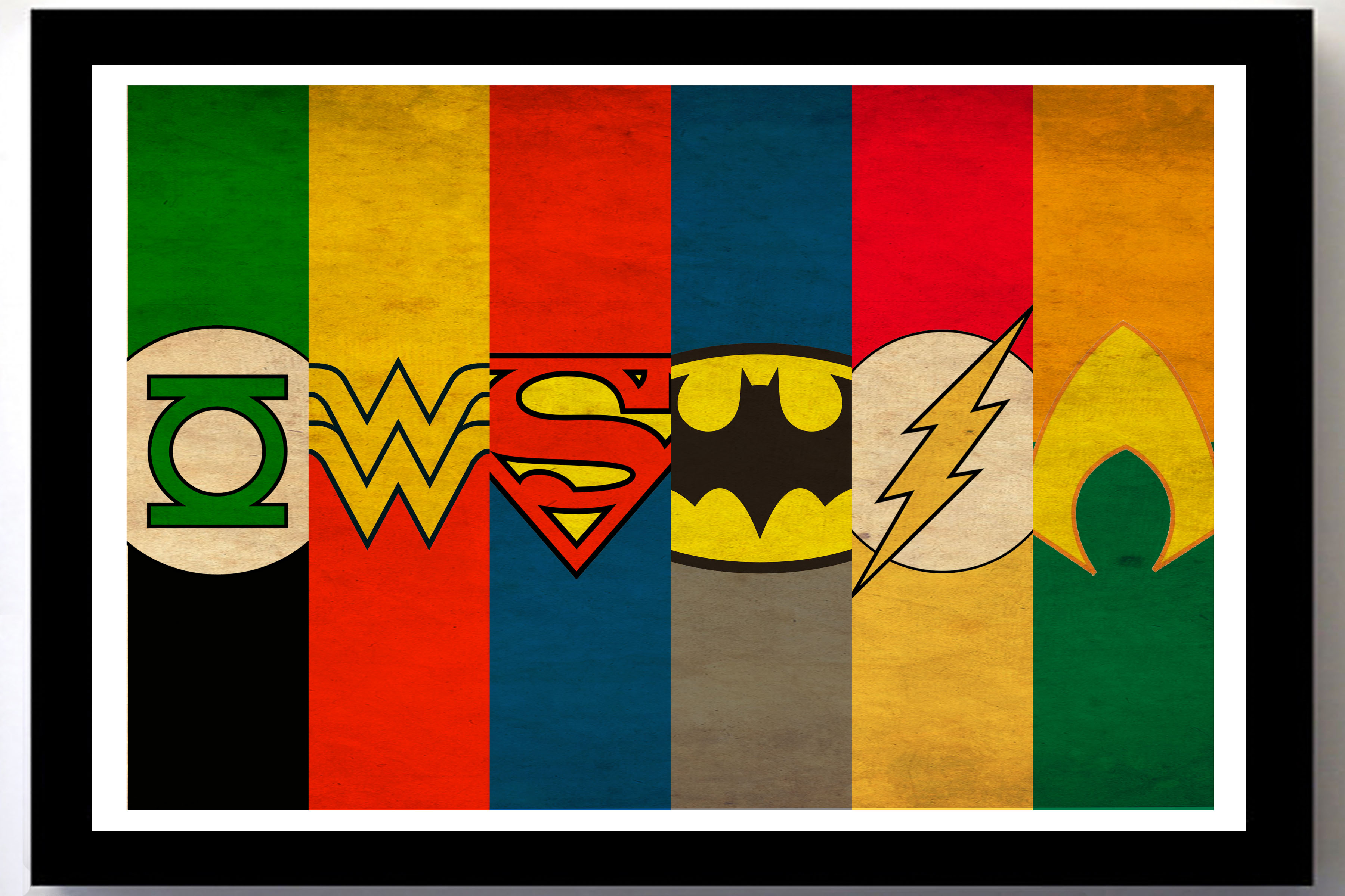 Justice league minimalist poster superman batman wonder for Minimal art hero