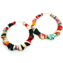 Multi-Color Bamboo DoorKnocker Earrings