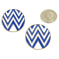 The W Blue Earrings