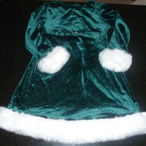 Green Holiday Dress-Bonnie Jean Size 5