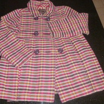 Brown/Pink Lined Coat-Old Navy Size 5T