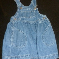 Jean Overall Dress-Baby Gap Size 18-24 Months