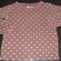 Brown/Pink Polka Dot Shirt-Baby Gap Size 18-24 Months