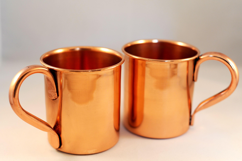 Set Of 2 15 Oz Pure Copper Moscow Mule Mugs 183 Copper Mugs