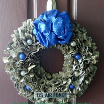Holiday Air Force ABU Wreath