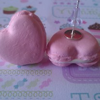 Heart Macaron Stud Earrings