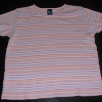 Pink Multi Striped Shirt-Gap Size M 7/8