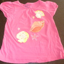 Pink Shirt With Seashells-Baby Gap Size 3T