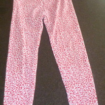 Red Blue/White Flower Pants/Leggings-Gymboree Size 5