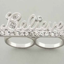 Silver Believe Me Ring