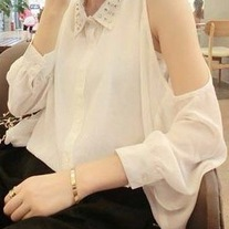 Studded Off-Shoulder Blouse