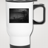 """RELUCTANT GOD"" Travel Mug"