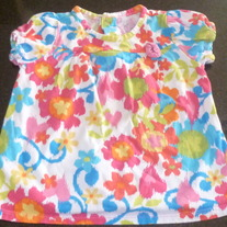 Multi Color Flower Shirt-The Childrens Place Size 12 Months