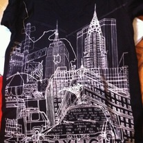 City Shirt (Black) - V-Neck
