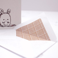 *sold* fat bunny note cards set of 6 - Thumbnail 3