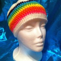 Rainbow Beanie - DESTASH SALE - Thumbnail 3