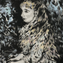 Irène Cahen d'Anvers, after Renoir (blue variant)