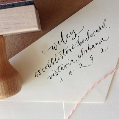Custom Calligraphy Address Stamps Angeliqueink Online