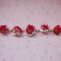 We are painting the roses red bracelet