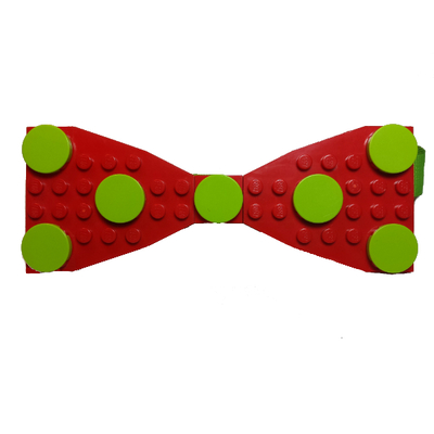Lego® red/lime green  polka dot