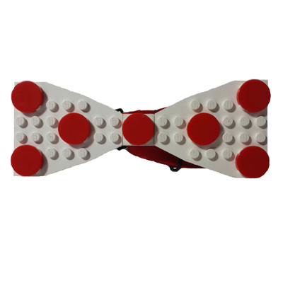 Lego® white/red polka dot
