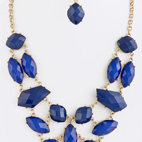 Geo Shapes Statement Necklace- 3 Colors