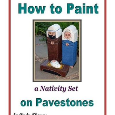 How to paint a nativity set on pavestones