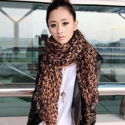 Luciana leopard scarf