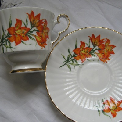 """prairie lily"" royal windsor tea cup and saucer estevan saskatchewan"