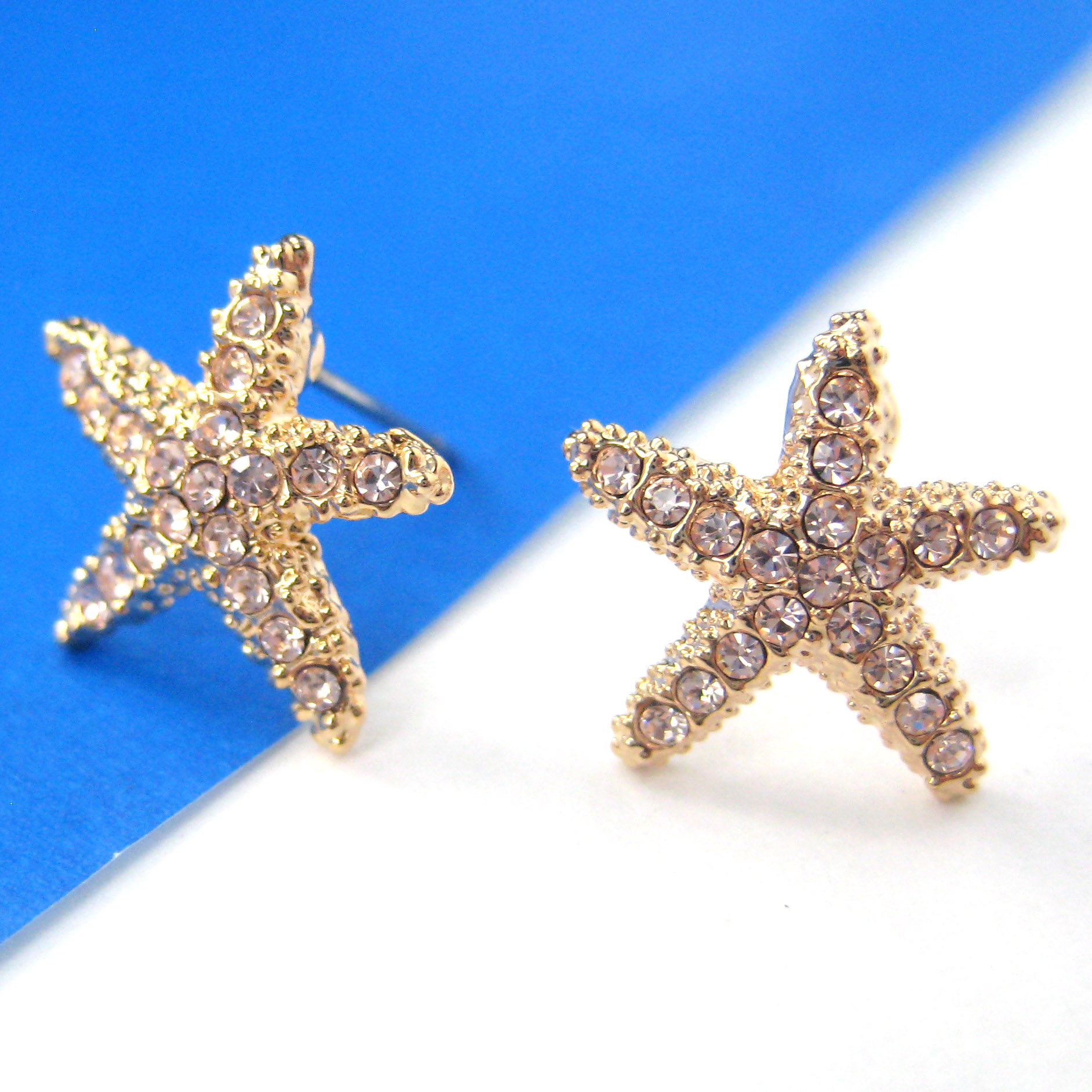thumbnail small products simple original earrings star in stud starfish shaped img silver plus dotoly