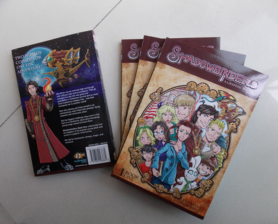 'shadowbinders: book one' softcover graphic novel
