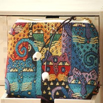 Zip Wallet - Tapestry Cats - Mother's Day Special - Was $23 Now $18