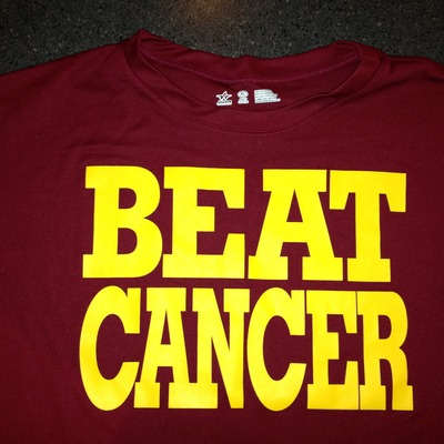 Cardinal/gold dri-fit t-shirt