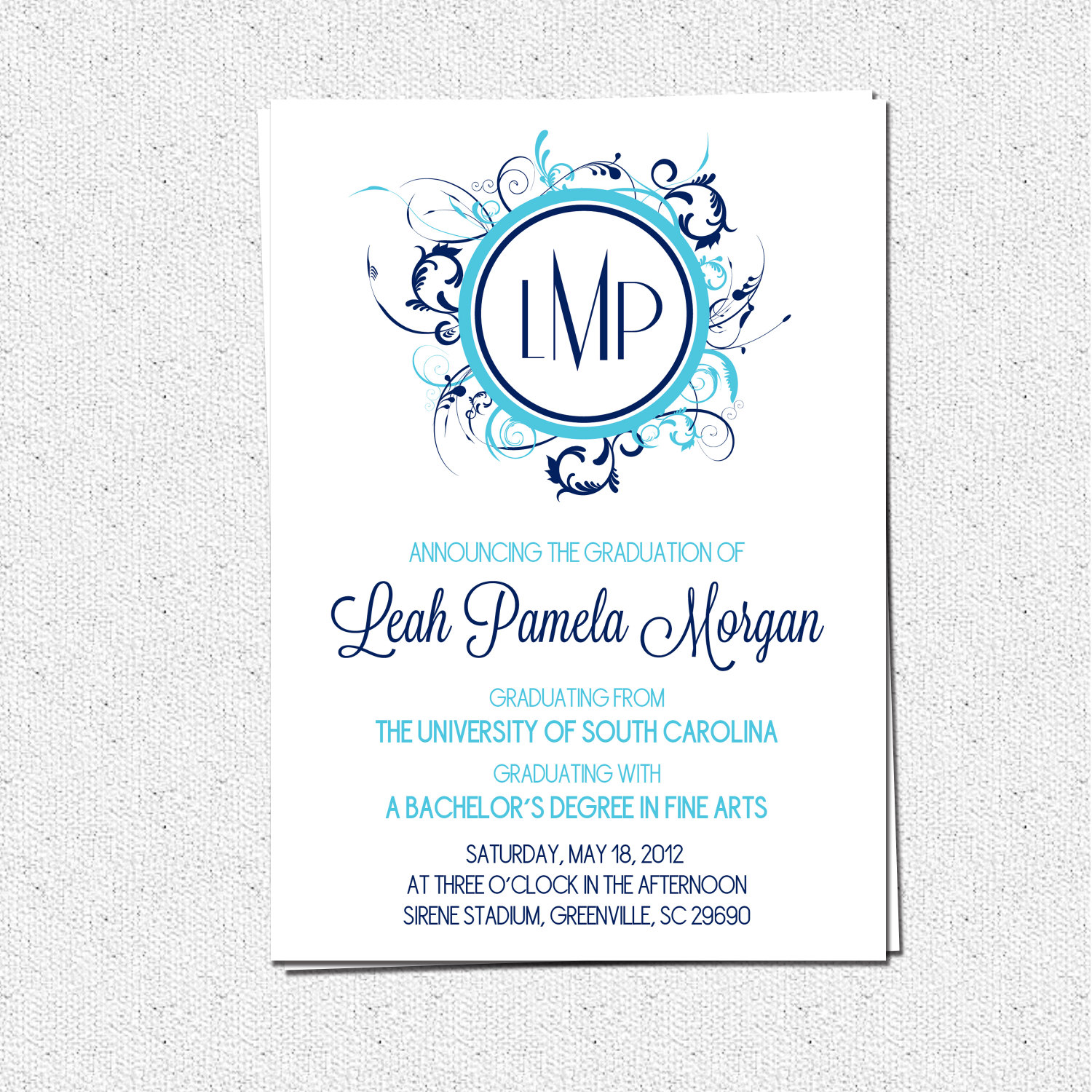 Graduation announcement invitations modern floral monogram girl graduation announcement invitations modern floral monogram girl custom personalized pick your filmwisefo